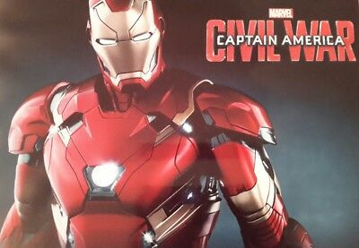 Iron Man Captain America Civil War Film Movie A4 Picture Print A4 Wall Art