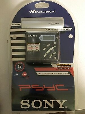 Rare Sony MD Walkman MZ-R500 PC, Pc Link headphones BRAND NEW IN THE PACKAGE