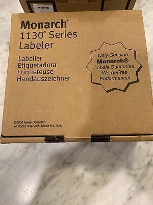 """GENUINE BRAND NEW MONARCH 1131 """"1130 Series """"PRICE GUN LABELER With Ink Roller"""