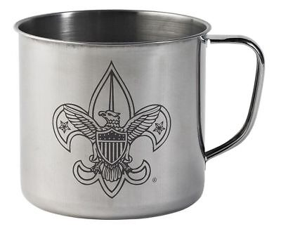 Boy Scout Cub Girl BSA Vintage Style Stainless Steel Cup 28 Ounce Soup Cereal