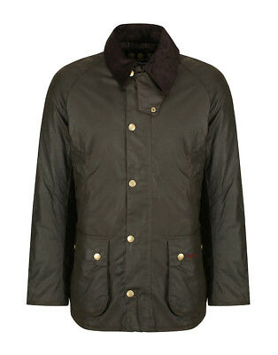 Barbour Men's Winterby Winter Ashby Wax Jacket - Olive Large Rrp $399