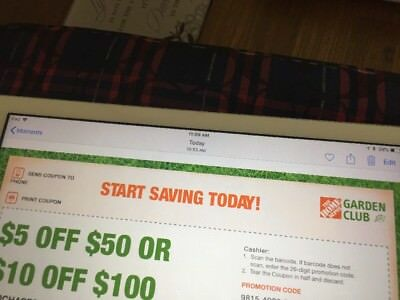 Home Depot $5 Or $10 Off Garden Coupon Exp. 8/22/18