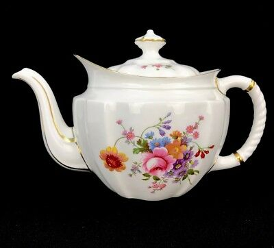 Royal Crown Derby Posies Teapot & Lid Surrey Shape Made In England Bone China