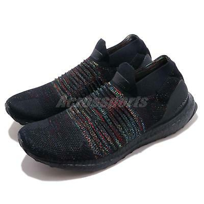 c6bb372ec1c adidas UltraBOOST Laceless Black Multi-Color Rainbow Mens Running Shoes  B37685