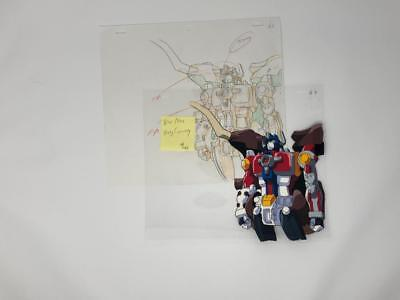 Transformers Japanese Beast Wars Neo Big Convoy Animation Art Cell Lot 386