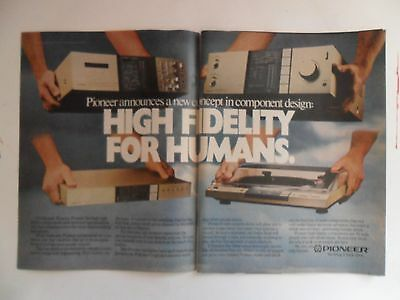 1981 Print Ad Pioneer Turntable Receiver ~ High Fidelity for Humans