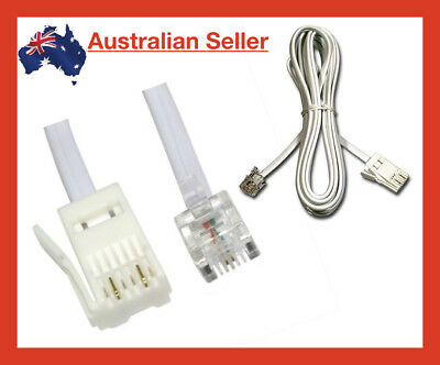 1m RJ11 to BT Modem Cable Lead Telephone Phone Plug BT Socket 2 PIN Crossover