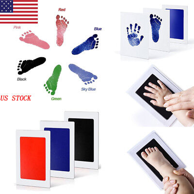 US Baby Paw Print Pad Foot Photo Frame Touch Ink Pad Baby Items Souvenir Gift
