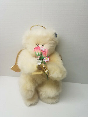 Bears Annette Funicello Mint With Tag And Crystal Angel Mini Bear Annette Funicello White Angel Bear