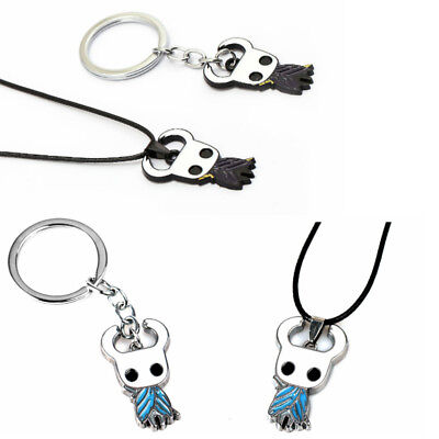 Game Hallownest Hollow Knight Keychain Porte Cles Necklace Ghost Keyring Rings