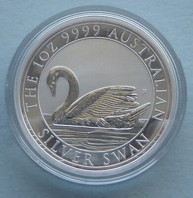 VERY RARE: 2017 1 oz PERTH MINT 9999 SILVER SWAN BU COIN with FREE POST