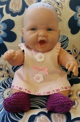 "Chubby 14"" Berenguer Baby Doll With New Clothes"