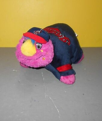 "Cleveland Indians 12"" Mascot Slider Pillow Pet - MLB Blue Chief Wahoo Hat"