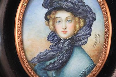 French Miniature Portrait Painting.
