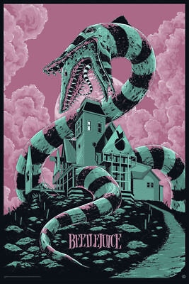 Beetlejuice Movie Art Silk Poster 8x12' 24x36' 24x43'