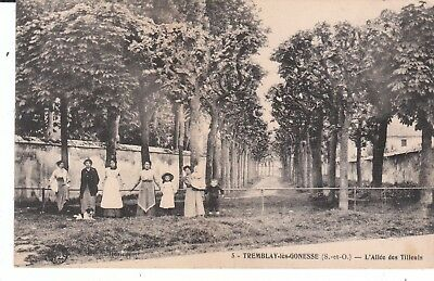 Cpa Tremblay-Les-Gonesse (93) L' Allee Des Tilleuls - Animee