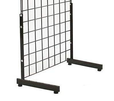 Grid Gridwall Panel Legs Stand Floor Wall Base Fixtures 1 One Pair Black New