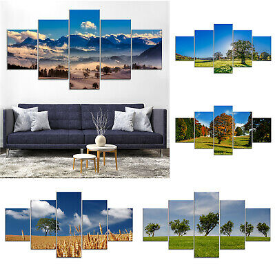 Tree Landscape Nature Canvas Print Painting Framed Home Decor Wall Art Poster