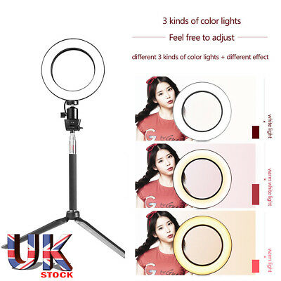 """8"""" LED Ring Light with Kit camera Stand Lighting light for Youtube Live Makeup"""