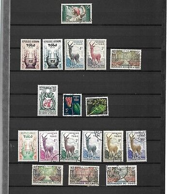 Togo 1957 1965 51 Stamps With Complete Sets Mh/used */obl 2 Scans