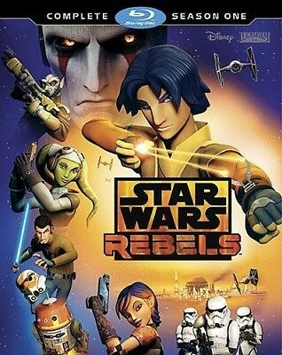 Star Wars Rebels: The Complete Season 1 (First Season) (2 Disc) BLU-RAY NEW