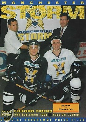 Sep 95 MANCHESTER STORM v TELFORD TIGERS first home game auto John Lawless