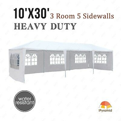 10'x30' Canopy Party Wedding Tent Outdoor Gazebo Heavy Duty New Pavilion Event