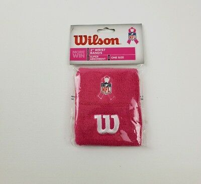 Wilson WristBands NFL  Breast Cancer Awareness Wrist Bands BRAND NEW SEALED