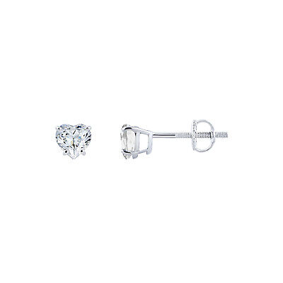 0.95 Ct Round Diamond Halo Stud Earrings 14K White Gold Over 925 Sterling Silver
