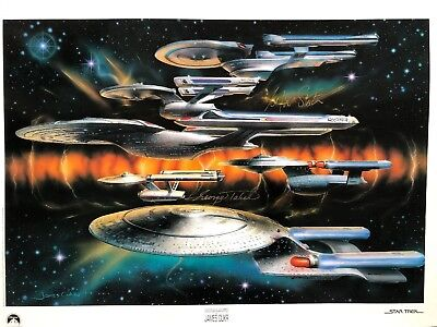 Star Trek Signed William Shatner George Takei Lithograph