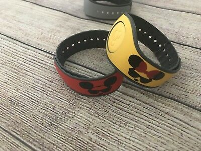 Set of 2 Disney Magic Band Decals stickers His & Her Mickey Minnie Sunglasses