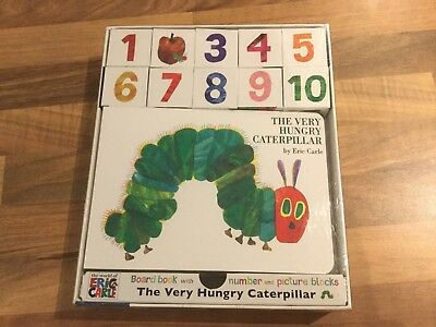 The Very Hungry Caterpillar Board Book with Number and Picture Blocks brand New