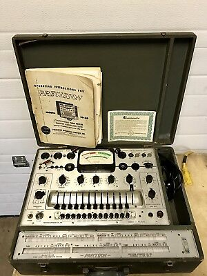 Vintage Precision 10-60 Tube Tester SN: 1494 With Manual