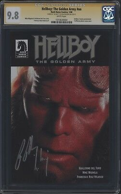 HELLBOY: THE GOLDEN ARMY #nn - Signed by Ron Perlman (CGC 9.8 SS), White Pages