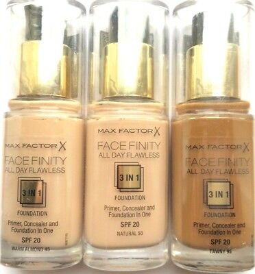 MAX FACTOR FaceFinity All Day Flawless Foundation & Primer 30ml - Please Choose