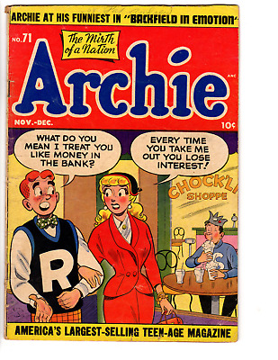 Archie # 71 (GD/VG 3.0) 1954, Betty and Veronica, Jughead, Teen Humor