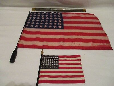 ORIGINAL WW1 KIA Gold Star Mothers Pilgrimage Flag State of NY KILLED IN ACTION