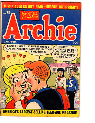 Archie # 72 (VG 4.0) 1955, Betty and Veronica, Jughead, Teen Humor