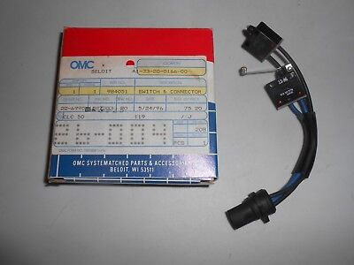 New NOS OEM OMC 398858 Switch Assembly Johnson Evinrude SysteMatched Part toggle