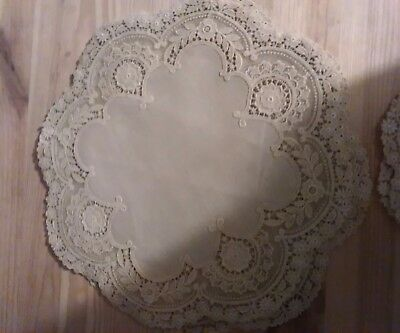 set of embroidered doilies x 11