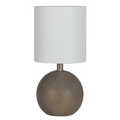 Minimalist Faux Wood Table Lamp Light Brown Bedside Table Lamp Rustic Lamp Only