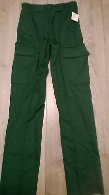 Mens Green ambulance paramedic NHS Hospital uniform work trousers Extra long leg