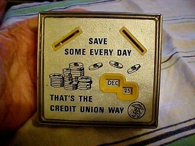 VINTAGE COIN CALENDER BANK ; CREDIT UNION BANK ;USA ; With The KEY