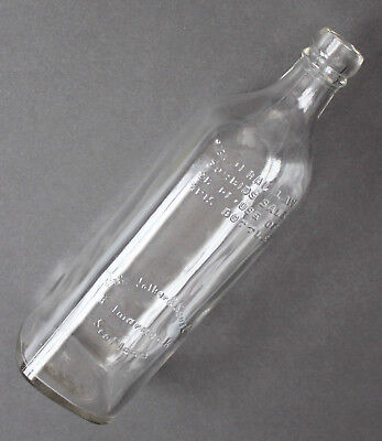 Vintage JOHN WALKER & SONS Ltd Kilmarnock Scotland Whiskey Bottle Clear Glass