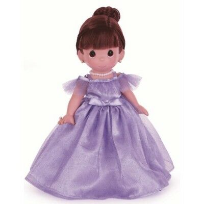 Precious Moments 12 Inch Vinyl Doll, 'Prettiest One Of All', Brunette, New 4762