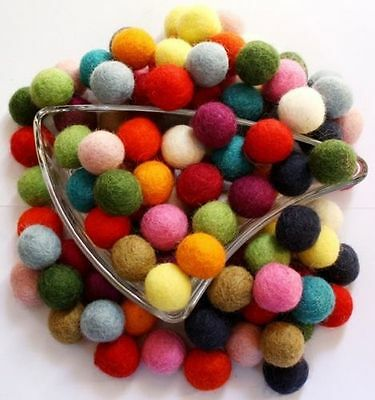 15 colors Pom Pom Felt Balls 2 cm home Crafts Christmas Nursery Felted Garland