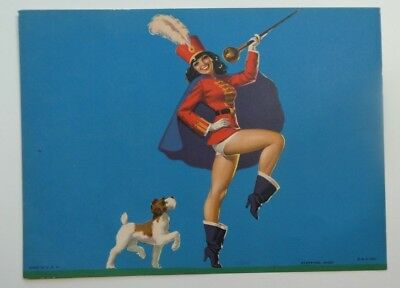 STEPPING HIGH Pin up original from the 50 ' s Litho U.S. Majorette