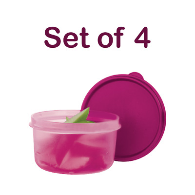 NEW Tupperware Serving Center Bowls, Set of 4, Fuchsia Kiss Hot Pink, 14 oz