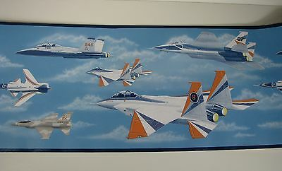 Wallpaper Border Experimental Jet Aircraft Fighter 2 Rolls New in Package