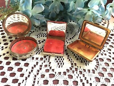 Vintage Rouge Compact Lot Of Three